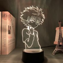 Anime Hunter X Hunter Touch Light 3d Night Lamp Colorful Bedroom Led Color Changing Nightlight Decor Kids Birthday Gift