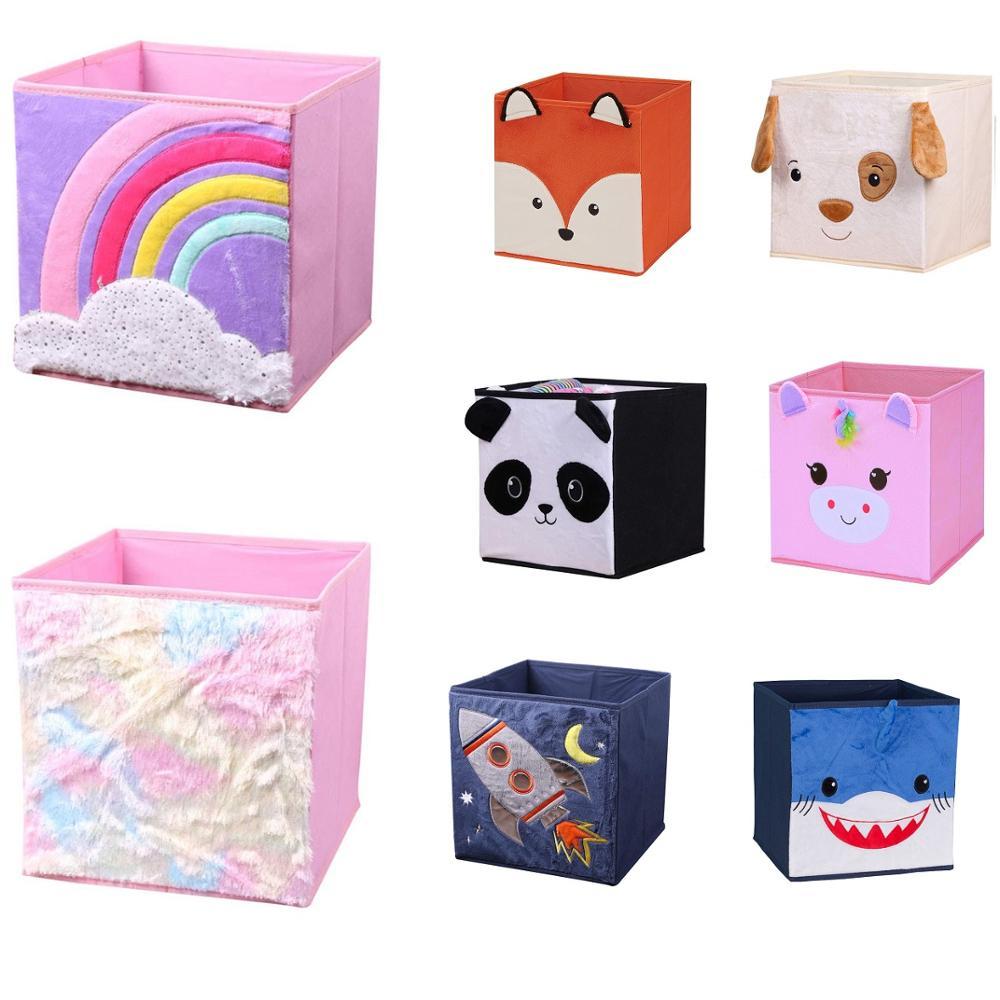 New Cartoon Animal Pattern Folding Storage Box For Toys Storage Organizers Cube Sundries Storage Basket Bins