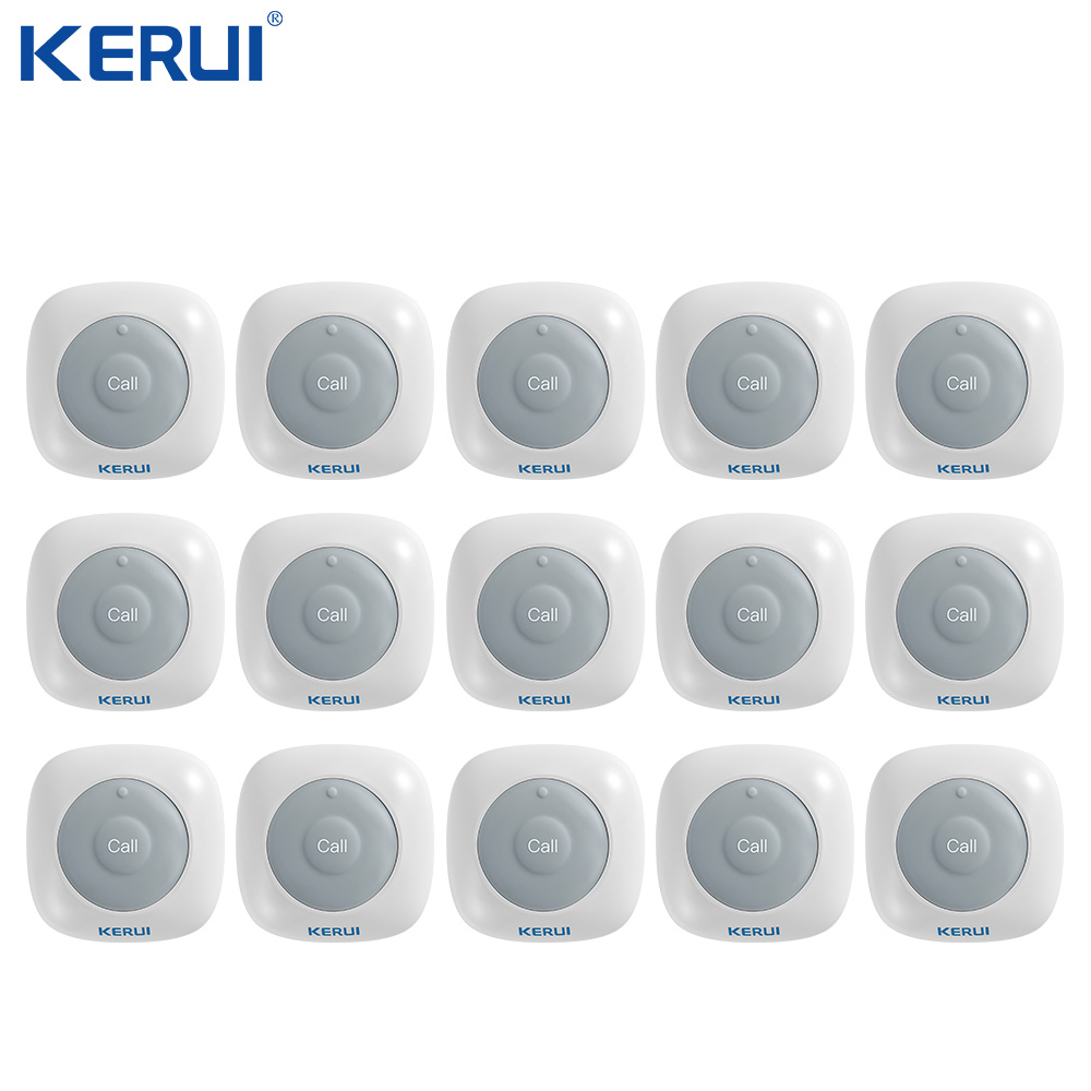 KERUI  New Button F71 Wireless Waiter Pager Emergency Button  For Call System Hospital Bank Hotel Restaurant Calling System
