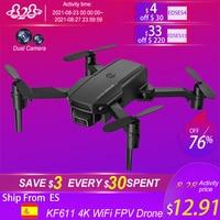 2021 nuovo Mini KF611 Drone 4K HD telecamera grandangolare WiFi Fpv droni pieghevole Quadcopter altezza mantenere professione Dron RC elicottero