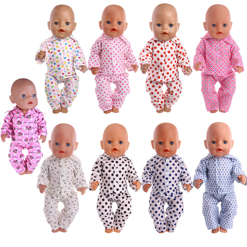 Doll Clothes Mouse Animal Pajamas For 18 Inch American Doll&43 Cm Baby New Born Doll For Generation Girl`s Toy Doll Accessories