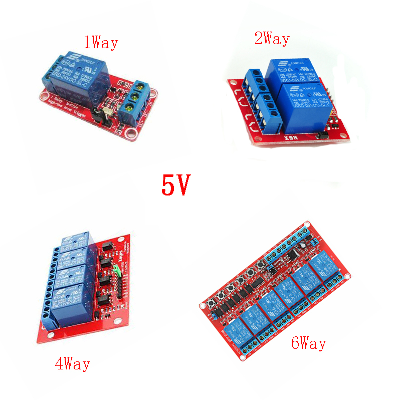 Module de relais cc 5 V 1 2 4 8 canaux bouclier de carte de relais avec Support optocoupleur déclencheur de haut niveau bas pour relais Arduino DC 5 V|Relais|   - AliExpress
