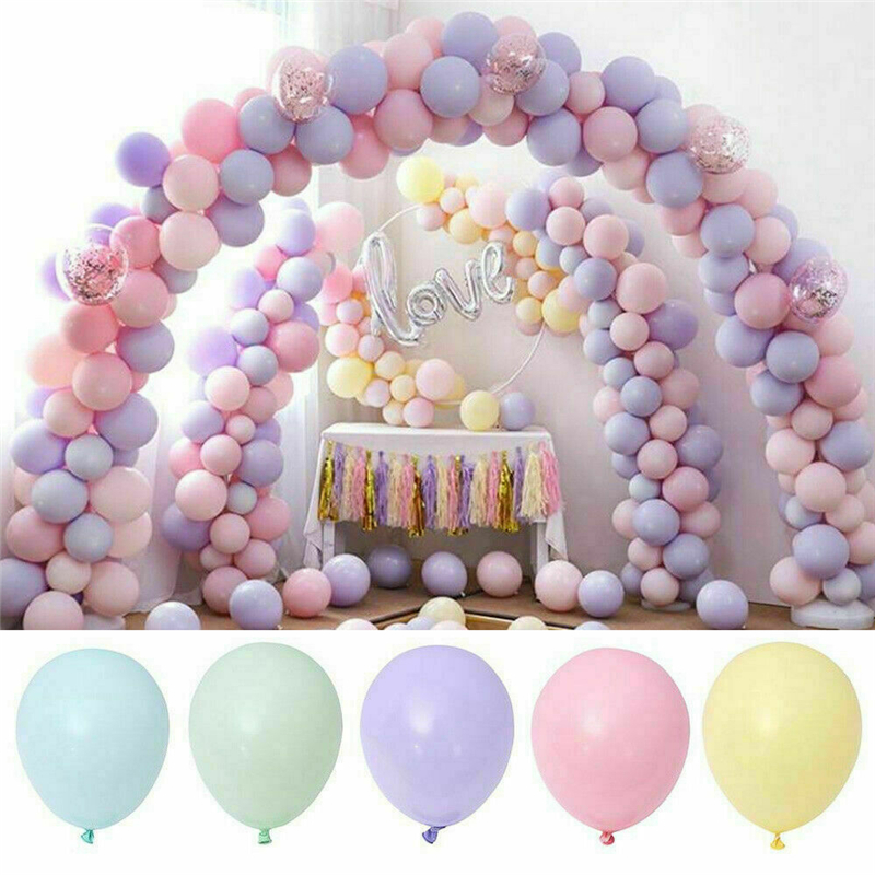 100pcs Macaron Candy Colored Party Balloons Pastel Latex Balloons 10 Inch