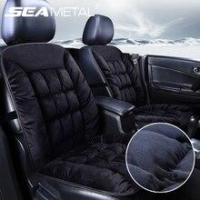 Plüsch Auto Sitz Abdeckung Winter Warm Kissen Seat Protector Autos Stühle Matte Auto Innen Zubehör Universal für Die Meisten Autos