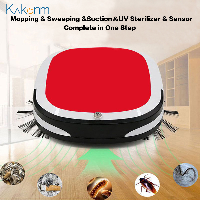 Hot Rechargeable Smart Robot Vacuum Cleaner 3200PA Mopping Sweeping Suction Cordless Auto Dust Sweeper Machine for Home Cleaning(China)