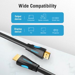 Image 4 - Vention HDMI Cable 4K HDMI to HDMI 2.0 Gold Plated Connector Cable For Splitter Switch HDMI Cable for HDTV LCD PS3 4 Pro 5M 10M