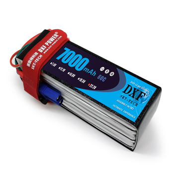 DXF 6S Lipo Battery  22.2V 7000mAh  60C Max120C for RC Airplane Helicopter Quadrotor AKKU car truck boat RC drone