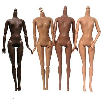 4 вида стилей подвижный шарнир африканская черная женская кукла обнаженное тело 29 см коричневая Кукла тело без головы игрушки аксессуары детские игрушки