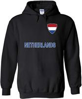 Netherlands National Flag Pocket Novelty Black Men Women Unisex Hooded Sweatshirt Hoodie Unisex men women hoodie