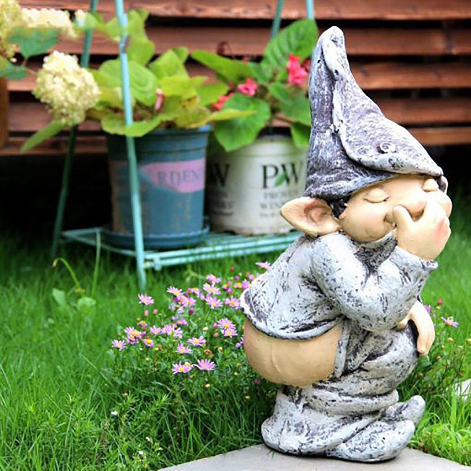 Забавные полимерные озорные садовые гномы, украшения для сада, статуя гнома, украшение для дома, украшение для дома