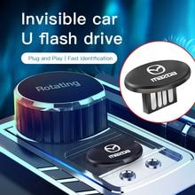 1Pcs Invisibility Metal USB Mini Portable U Disk Car Styling For Mazda Cx 4 ATZ Mazda 3 Mazda 6 Atenza Axela Demio CX3 CX5