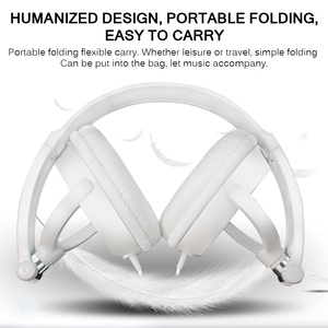 Image 4 - 2019 NEW Wired Headphones 3.5mm Round Interface With Microphone Over Ear Foldable Headsets Bass HiFi Sound Music Stereo Earphone
