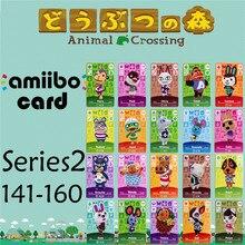 Пересечение животных подлинных данных новые горизонты игры Марио карты для NS переключатель 3DS игра набор NFC карт Ряда2 141-160 матовый материал