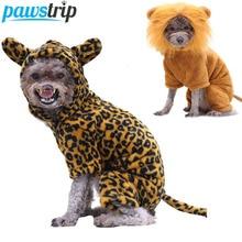 Costume Jumpsuit Pet-Clothing Puppy Fleece Winter Cosplay Pawstrip Soft Lion Halloween