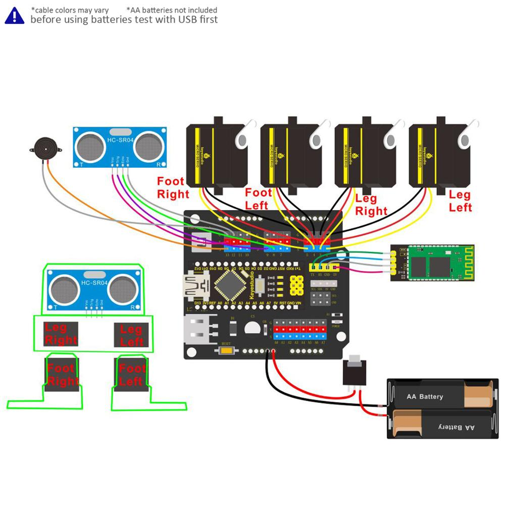 Image 4 - Keyestudio DIY Project Starter Kit For Arduino OTTO DIY Robot (No 3D Body Printer Parts)-in Integrated Circuits from Electronic Components & Supplies