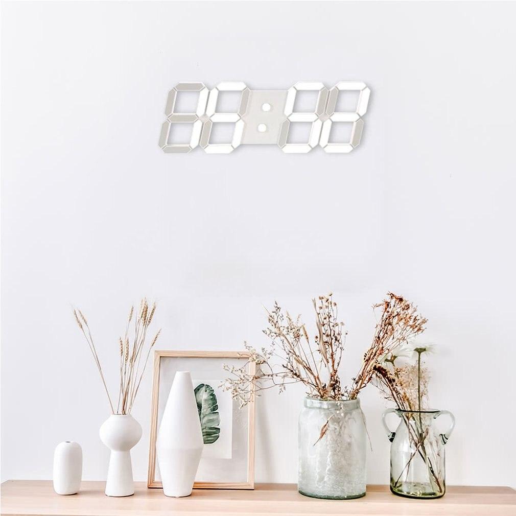 TS-11 Multifunctional Led Clock 3d Stereo Led Electronic Clock Home Fashion Wall Clock Creative Wall Clock