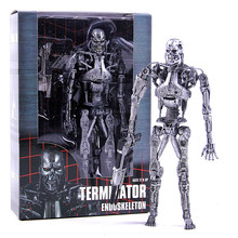 Endoesqueleto NECA O Exterminador Do Futuro T-800 Móvel Action Figure PVC Modelo Coleção Toy Presente 18CM(China)