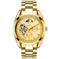 自動機械式メンズ腕時計 TEVISE メンズ腕時計トップブランドの高級ビジネス防水軍事トゥールビヨン時計リロイ hombre -