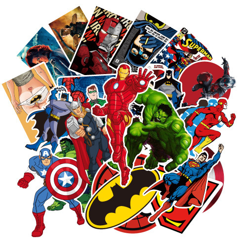 25pcs Marvel Toys Avengers Endgame Stickers Super Hero Hulk Iron Man Spiderman Captain American Star Wars Car Sticker Luggage