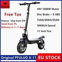 STOCK europeo PFULUO X-11 Kickscooter eléctrico inteligente Scooter 48V 1000W Motor de 50 km/h 11