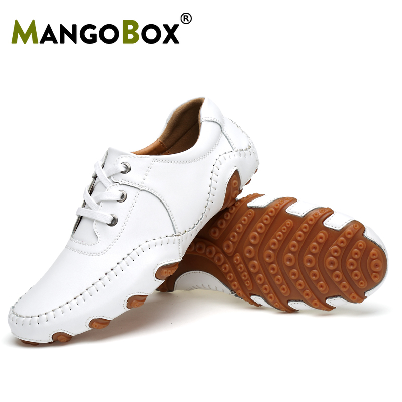 Classic Business Man Golf Shoes Sports Men Women Golf Sneakers Junior Leather Waterproof Golfer Walking Shoes Trainers White Boy