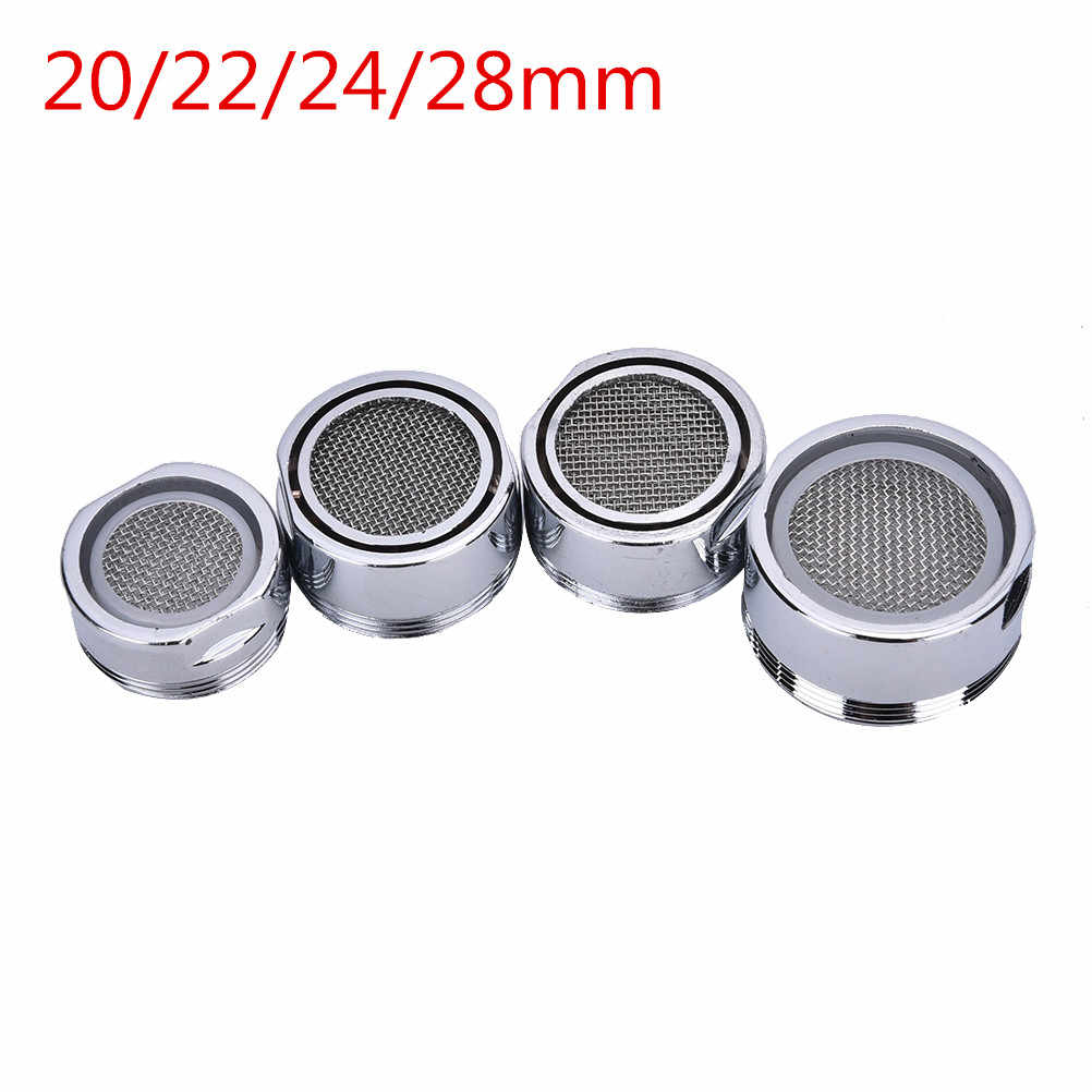 Water Filter Adapter 20/22/24/28 Mm Chrome Plastic Kraan Tap Beluchter Nozzle Spuit Filter 1 pc Waterbesparende Keuken Accessoires