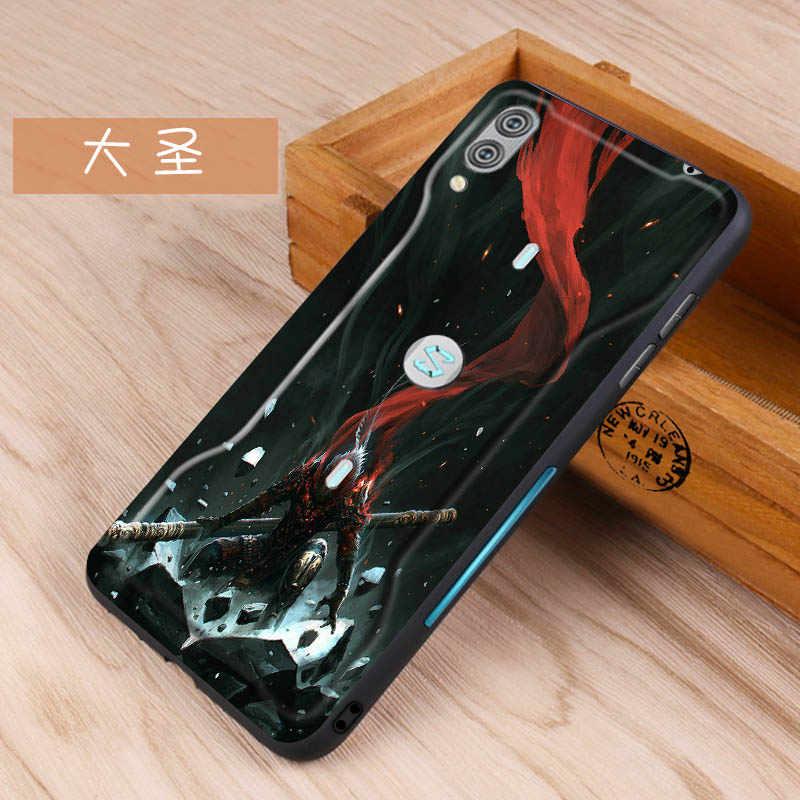 ل Xiaomi الأسود القرش 2 برو حالة غطاء سيليكون منقوشة لينة TPU حالة ل Xiaomi الأسود القرش 2 برو عالية الجودة الترا سليم