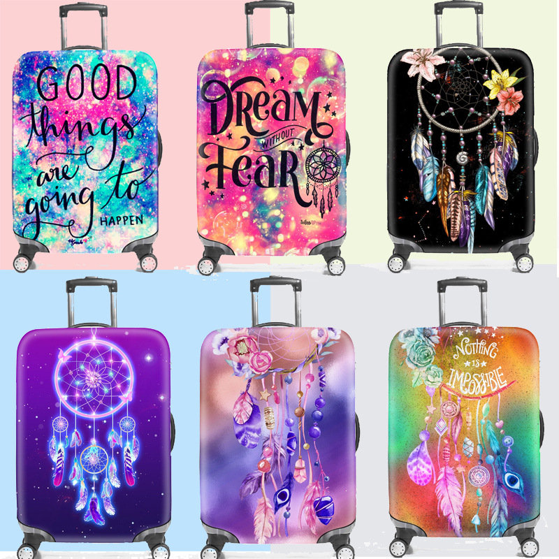 New Dream Suitcase Dust Cover Travel Elasticity Trolley Case Dust Cover Sets Durable Suitcase Protective Trunk Covers