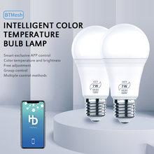 Bombilla inteligente inalámbrica con Bluetooth, lámpara de iluminación para el hogar, 7W, Magic RGB + W, cambia de Color, regulable, IOS /Android