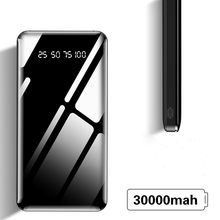 Higt 30000mah Power Bank External Battery PoverBank USB LED Powerbank Portable phone Charger for Xiaomi iphone 7 8 X Huawei 5G(China)