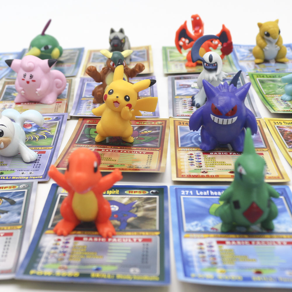 TAKARA Tomy Toys For Children Battle Trading Figure Card Game Action Figures POKEMON Dolls With Cards Collectible