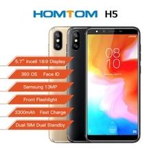"HOMTOM H5 Smartphone 3GB RAM 32GB ROM 5.7 ""4G LTE MTK6739 Quad Core Android 8,1 13,0 MP 3300MAH Fingerprint Gesicht ID Handy"