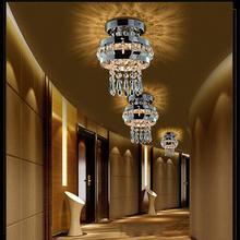 E27 220V Modern Crystal Ceiling Light Crystal Indoor Lighting Fixture For Dining Bedroom