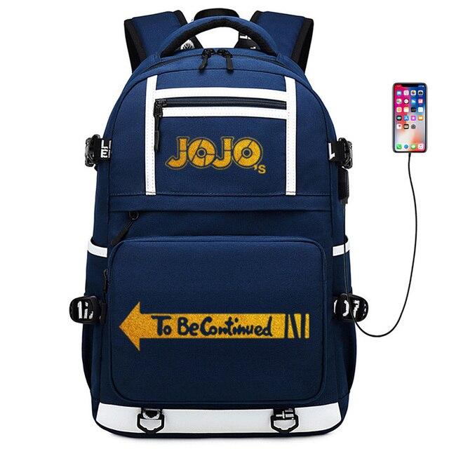 JoJo's Bizarre Adventure Gold Print Girl School Bagpack Large Travel Backpack Oxford School Bags for Teenage Girls Anime Bookbag 2