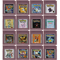 16 Bit Video Spiel Patrone Konsole Karte für Nintendo GBC Pokeon Serie Englisch Sprache Version Die Erste Edition