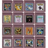 Картридж для видеоигр, 16 бит, консоль для Nintendo GBC Pokeon серии, версия на английском языке, первая версия