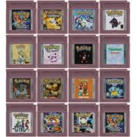 Cartucho de 16 bits para consola Nintendo GBC, Cartucho para consola de videojuegos de la serie Pokeon, versión en inglés, primera edición