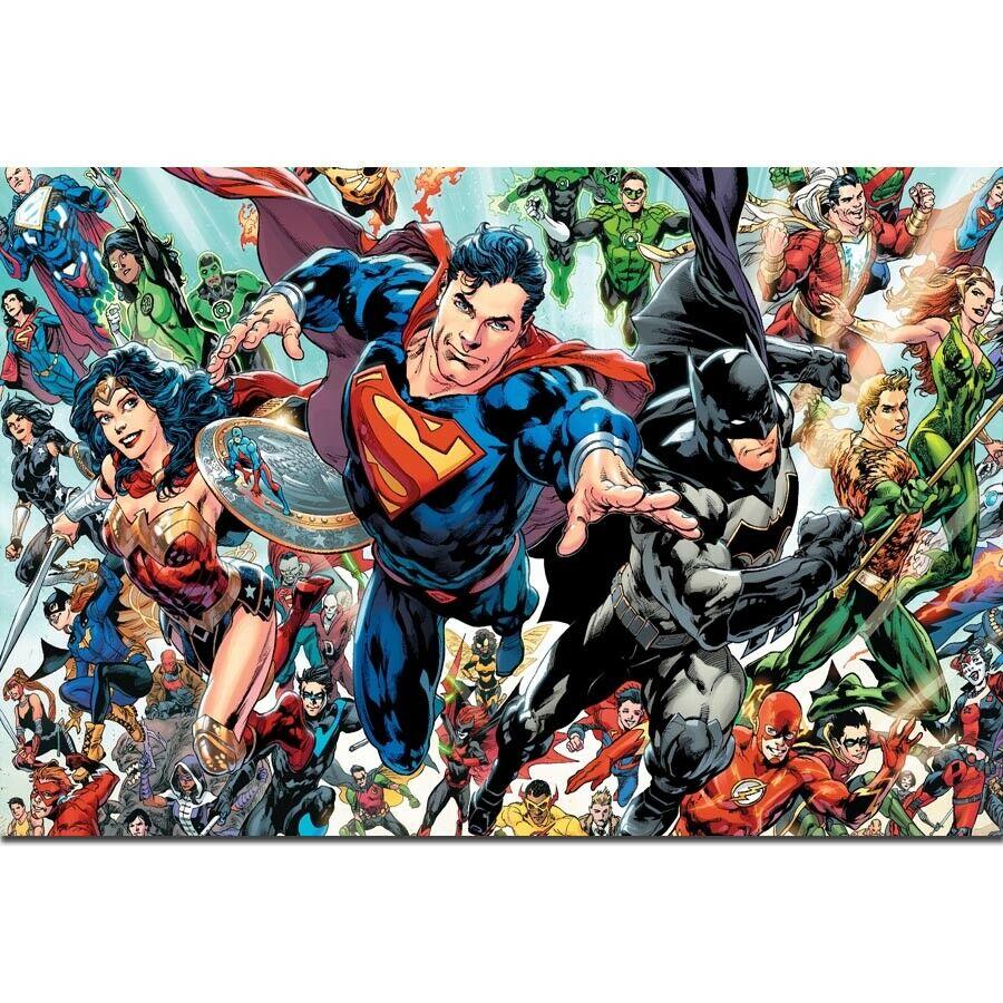 Justice League Marvel DC Superheroes Anime Comic Movie Poster Art Decoration