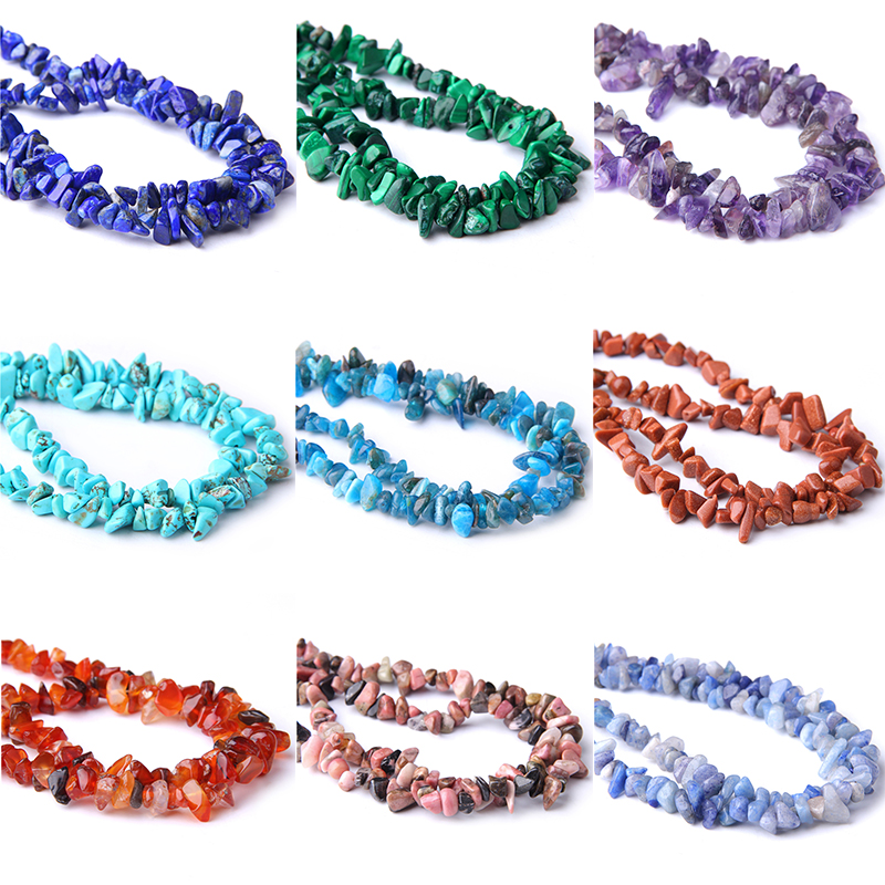 5-8MM naturel Lapis améthystes Fluorite Amazonite forme libre puce pierre perles pour cadeau de noël collier à faire soi-même Bracelet bijoux