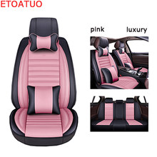 Full Coverage Eco-leather auto seats covers PU Leather Car Seat Covers for vw jetta 4 6 mk5 mk6 vw tiguan mk2 car covers car(China)