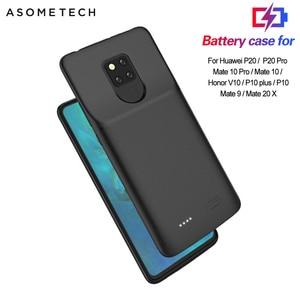 Image 1 - Pil şarj cihazı kılıfı için Huawei P20 Pro/Mate 20X/görünüm 10/P10/Mate 9 taşınabilir şarj cihazı bataryası kutusu şarj telefon kapağı güç banka çantası