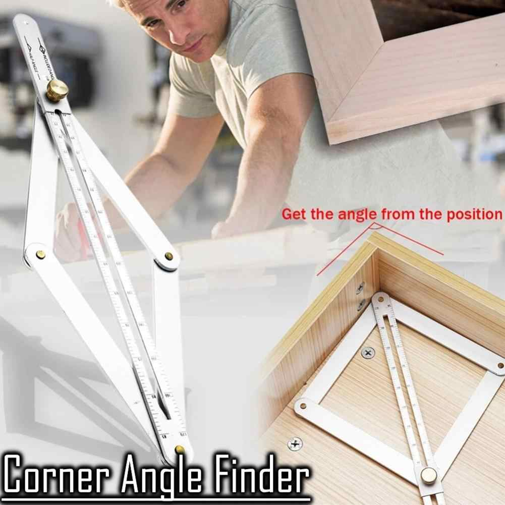 Multi-angle Corner Angle Finder Stainless Protractor Ruler Craft Angle Square