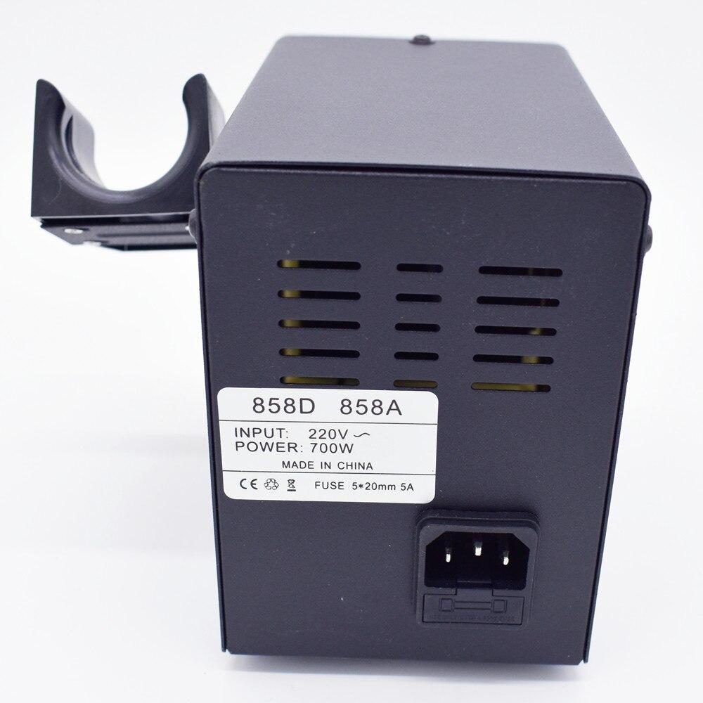Image 4 - 700 Вт 858D пистолет горячего воздуха паяльник для отпайки паяльная станция SMDiron solderiron solder adjustableiron electric  АлиЭкспресс