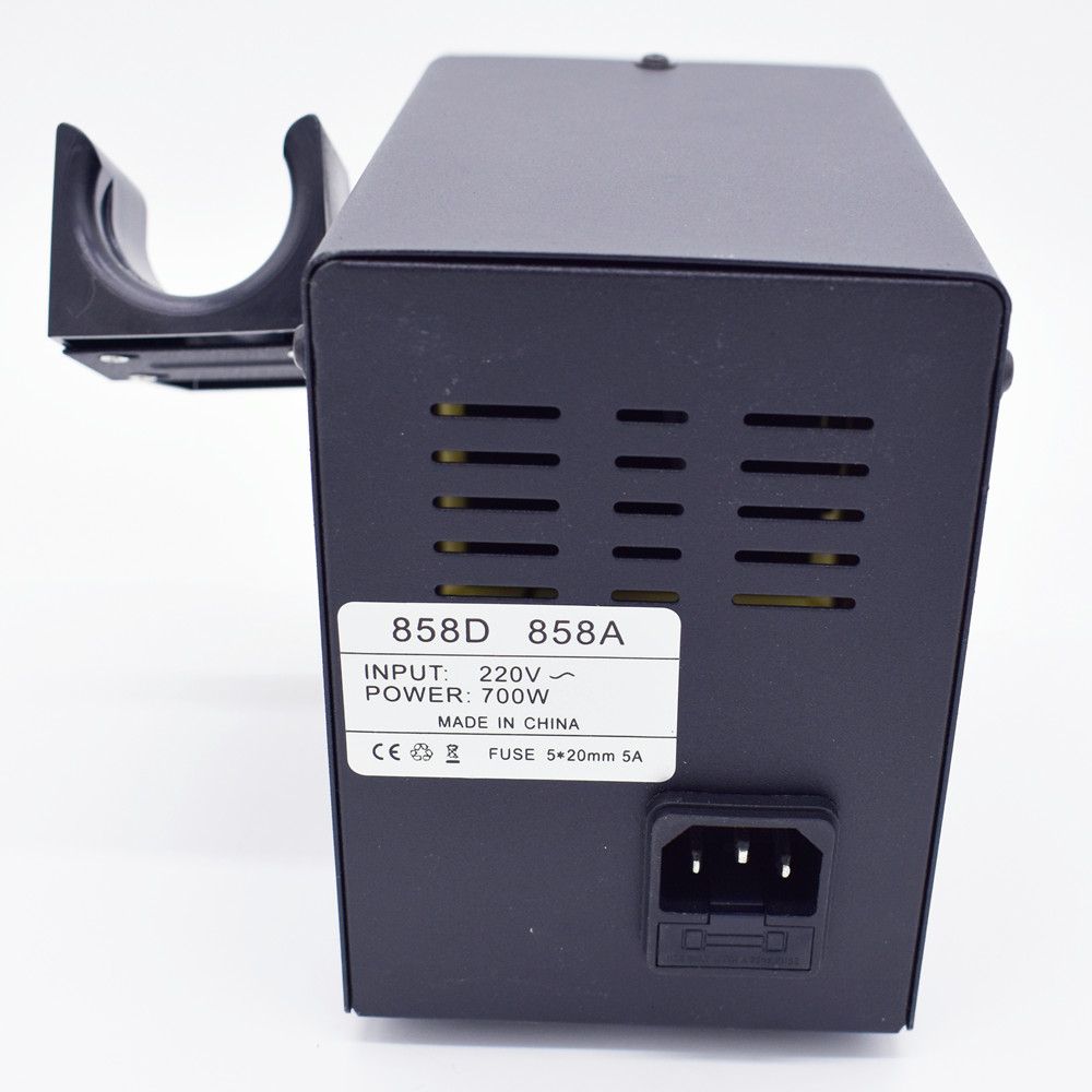 Image 4 - 700W 858D Hot Air Gun Desoldering Solder Rework SMD Station Setiron solderiron solder adjustableiron electric - AliExpress