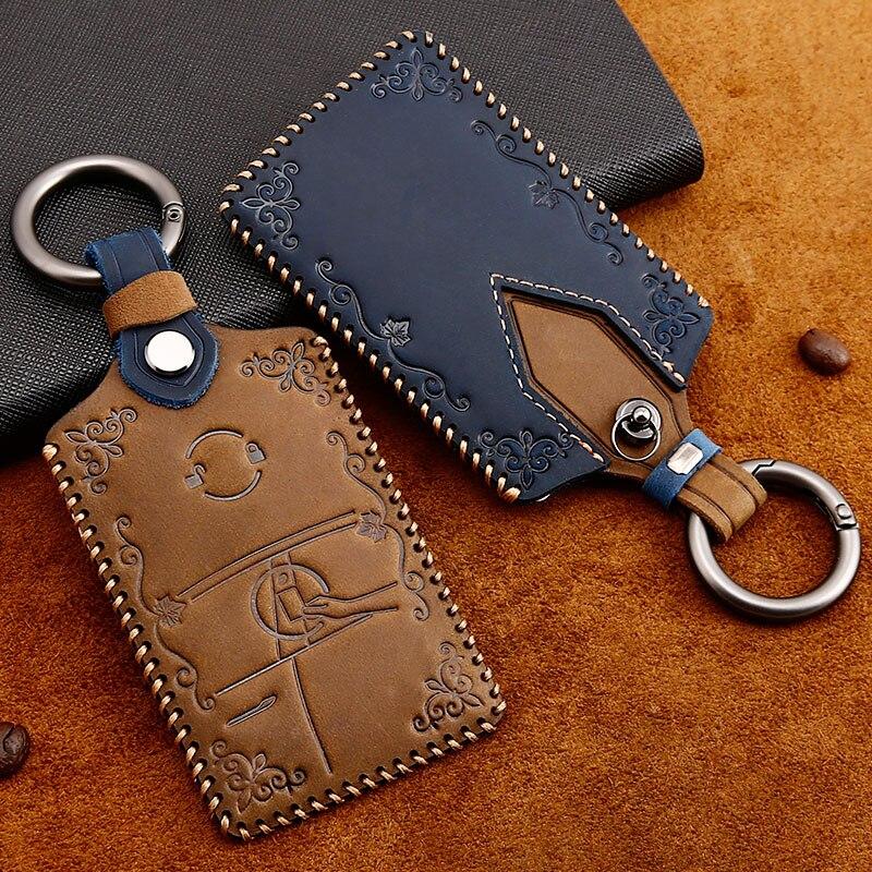 titular do cartao chave de couro protetor capa corrente chave para tesla modelo 3 modelo s