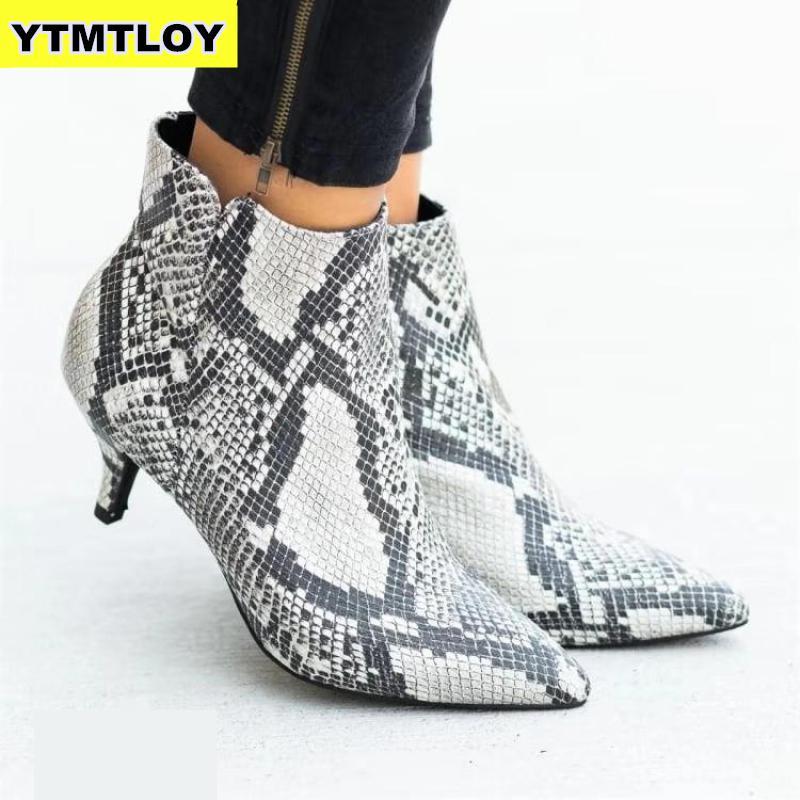 Новинка 2020 года; женские ботильоны с леопардовым принтом; женская обувь с острым носком на массивном высоком каблуке; женская обувь; большие...