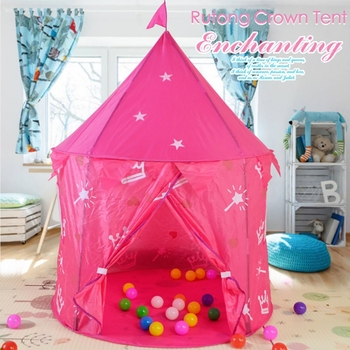 Portable Foldable Princess Folding Tent Play House Game Tent Toys Ball Pool Castle Tents For Girls Kids Children Christmas Gifts wholesale flyingtown beach game folding kids toytent play game house tent pool children tent outdoor fun sports lawn game
