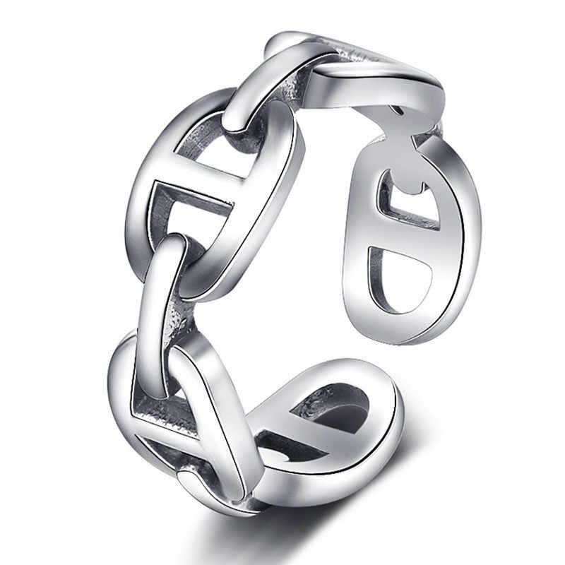925 prata esterlina vintage artesanal sorriso rosto/mouse/coração/carta/pena dedo anéis para presentes de natal feminino jóias