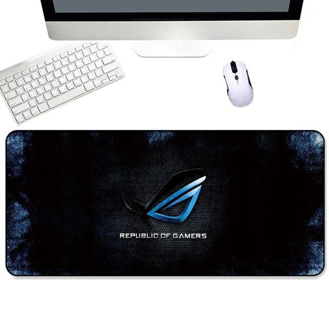 Duża podkładka pod mysz 80x30cm gumowa zabezpieczona krawędź podkładka pod mysz do gier mata dla republiki graczy dla CSGO Dota dla ASUS klawiatura XL