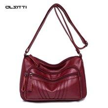 Vintage High Quality Shoulder Bags for Women 2020 Designer Trend Solid ColorPu Leather  Female Leisure Crossbody Bag